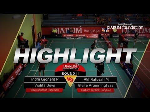 Indra Leonard/Violita D (Bayu Kencana Pasuruan) VS Alif Rafsyah/Elvira A (Mutiara Cardinal bandung)