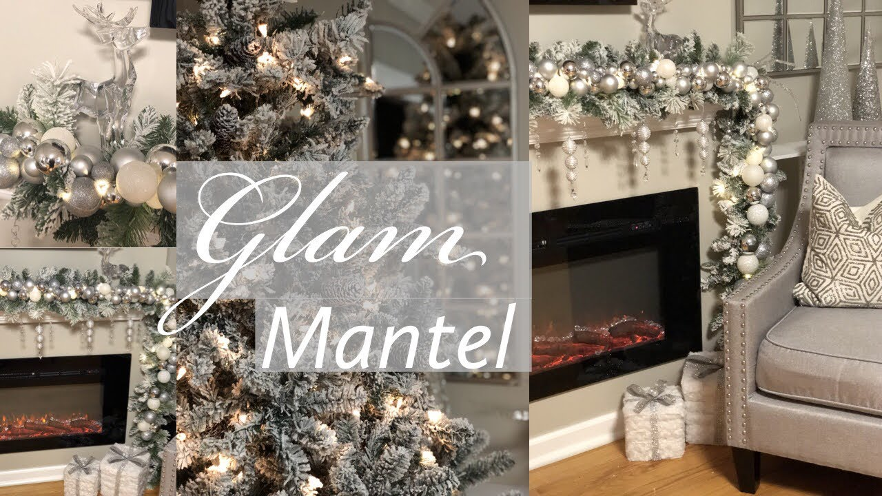 Diy Glam Christmas Mantel Garland White Amp Silver