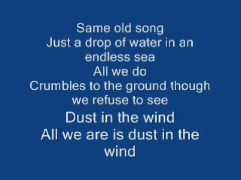 Dust in the wind lyrics - Kansas - YouTube