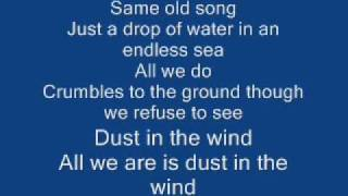 Kansas - Dust in the wind (Lyrics) thumbnail