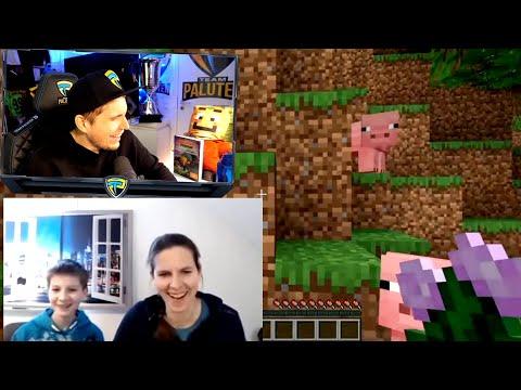 Paluten REAGIERT auf MAMA zockt Minecraft
