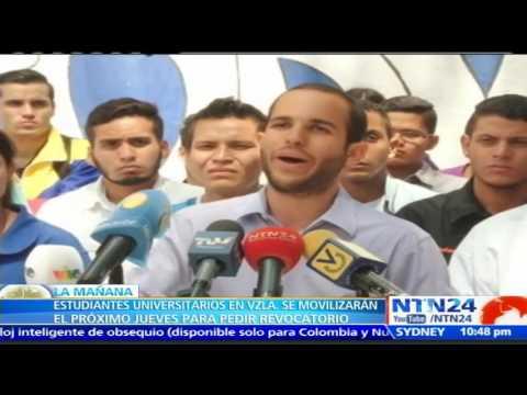 Estudiantes marcharán para exigir la realización del referendo revocatorio contra Nicolás Maduro