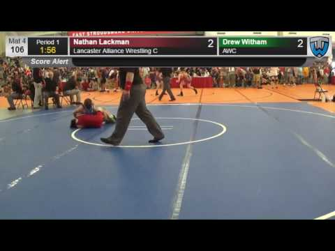 491 Cadet 106 Nathan Lackman Lancaster Alliance Wrestling C vs Drew Witham AWC 4137622104