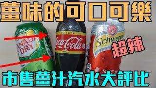 【阿脩】薑味的可口可樂 結果有一種辣辣的味道 市售薑汁汽水大評比 |開箱#26