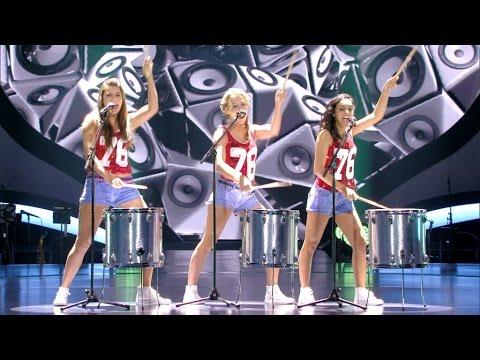Schuilen er stoere drummers in Lisa, Klaasje en Nora? | K3 Zoekt K3 | VTM