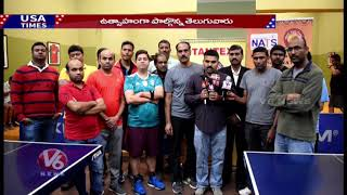 NATS Conducting Table Tennis Tournament In Dallas | V6 USA NRI News