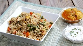 Vegetable Pulao Recipe | Indian Vegetarian Lunch, Dinner & Lunch Box Recipes By Shilpi