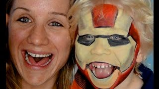 Iron Man Face Paint | Halloween Tutorial | Primp Powder Pout Thumbnail