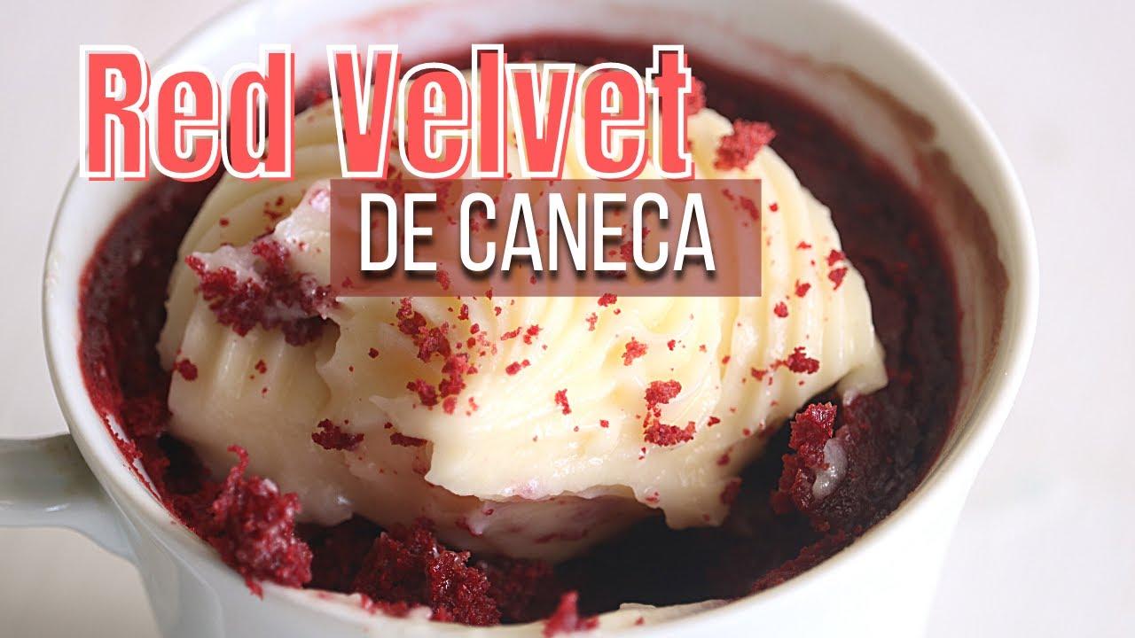 RED VELVET DE CANECA NO MICROONDAS   COM COBERTURA PERFEITA DE CREAM CHEESE   Day Flaubert