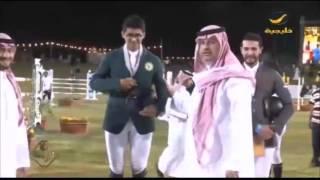 الفارس بندر بن محفوظ يتألق في نهائي كأس المؤسس لقفز الحواجز في نوفا