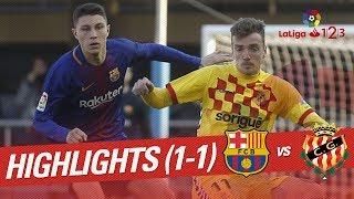 Resumen de FC Barcelona B vs Nàstic (1-1)