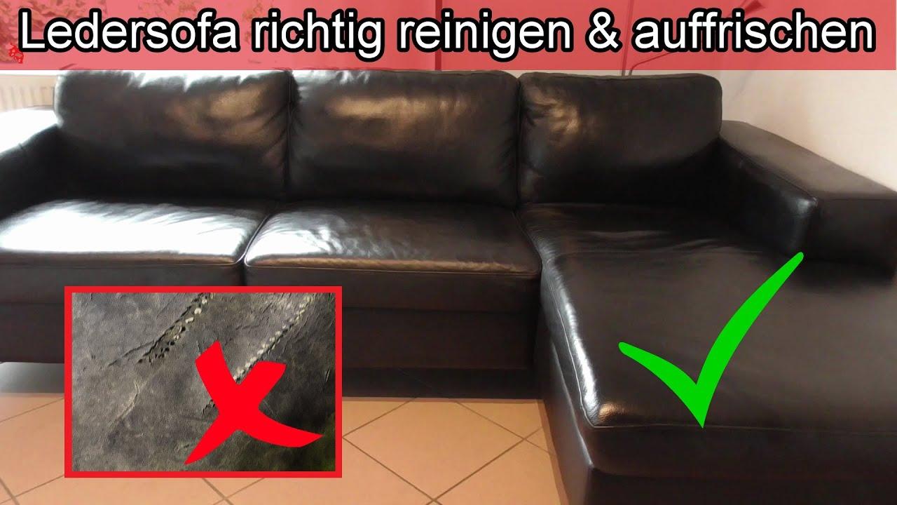 Ledersofa Richtig Reinigen Auffrischen Leder Couch Pflegen Sofa Sauber Machen Hausmittel Kernseife