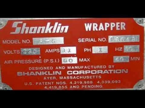 Used Shanklin Stainless Steel Flow Wrapper, Model F-6