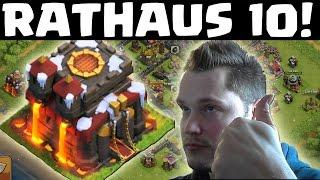 [facecam] ENDLICH RATHAUS 10! || CLASH OF CLANS|| Let's Play CoC [Deutsch/German HD]
