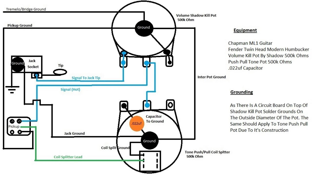 tone pot capacitor wiring diagram