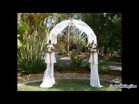 DIY Decorating Wedding Arch