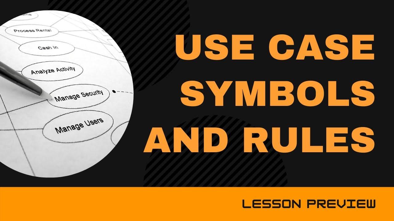 Use Case Diagram Symbols And Rules Explained Youtube