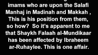 Clarification On Salim At Taweel And Response To Shaykh Falaah