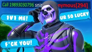 i put my PHONE NUMBER in my FORTNITE NAME... (angry callers)