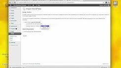 How to use the WordPress Importer - Exporter plugin - tutorial