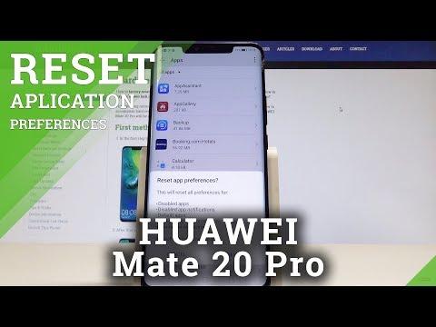 HUAWEI Mate 20 Pro Reset App Preferences / Restore App Settings