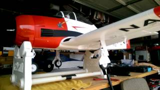 e flite carbon z t 28 retract and flap test