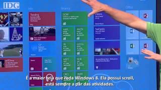 Steve Ballmer demonstra o Windows 8 em uma tela de 82 polegadas