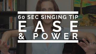 60 Second Singing Tip: Ease \u0026 Power | Arden Kaywin Vocal Studio