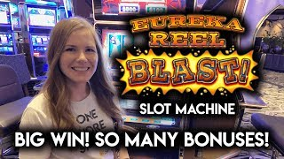BIG WIN! Striking GOLD on Eureka! Slot Machine! Free Spins BONUSES + Re-Trigger!