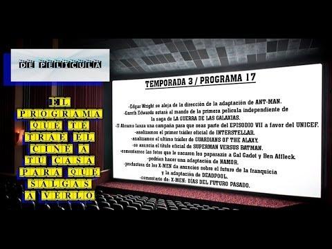 ▶DE PELICULA - programa de TV de cine - Batman V Superman / Namor / Ant-man / Star Wars 7