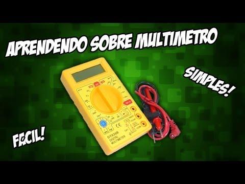 Como usar/funciona um multímetro - Básico - Eletrônica - RaaVaz