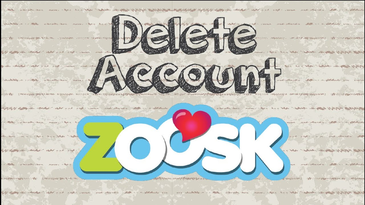 Erase zoosk account