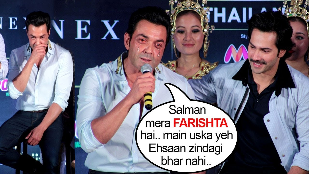 IIFA Awards 2018: Bobby Deol's EMOTIONAL Speech Thanking Salman Khan On  Stage For Giving Him Race 3