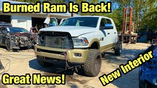 Rebuilding My Totaled Burned 2016 Ram 2500 Mega Cab Cummins Longhorn From Salvage Auction Part 11