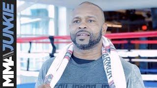 Roy Jones Jr. full media day scrum at UFC Performance Institute