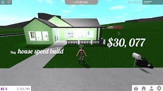 TINY HOUSE SPEED BUILD! (NO GAMEPASSES) - ROBLOX BLOXBURG