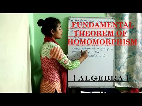 FUNDAMENTAL THEOREM OF HOMOMORPHISMS {ALGEBRA}