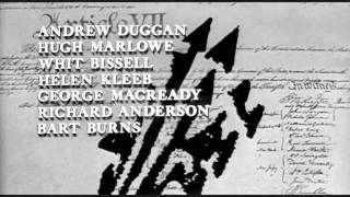 Widescreen opening credits - SEVEN DAYS IN MAY (1964)