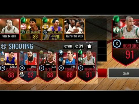 GAMEPLAY 91 OVR AL HORFORD TEAM OF THE WEEK NBA Live Mobile