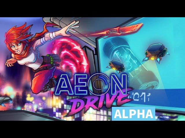 Indie Speed-running Cyperbunk Platformer Aeon Drive   Alpha Build Playthrough