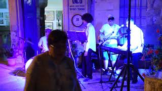 Young Jazz Group playing great huge music Safed festival video Avidar MaximeDSC 4430