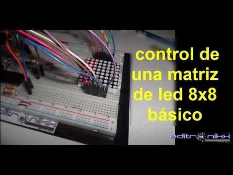 Tutorial De Matriz De Led 8x8 En Picc Bien Explicado Youtube