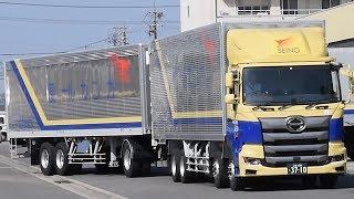 「ダブル連結トラック」新型車両公開 西濃運輸