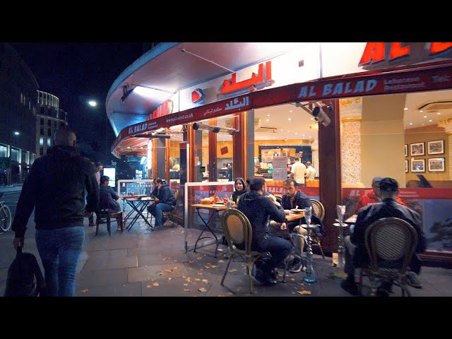 London Night Walk 🌙 Arabic & Middle Eastern Edgware Road (Paddington to Oxford Circus)
