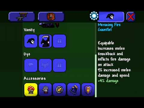 Best Melee Setup for Terraria Mobile (opinion)