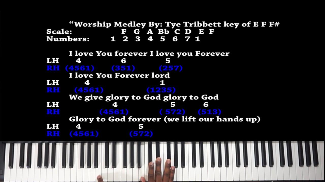 Worship medley by tye tribbett piano tutorial youtube worship medley by tye tribbett piano tutorial baditri Images