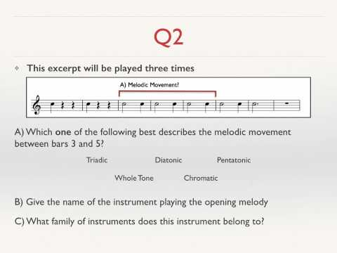 GCSE Music Revision   Practice Listening Questions