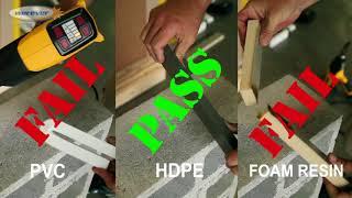 HDPE vs PVC vs Foam Resin Heat Test