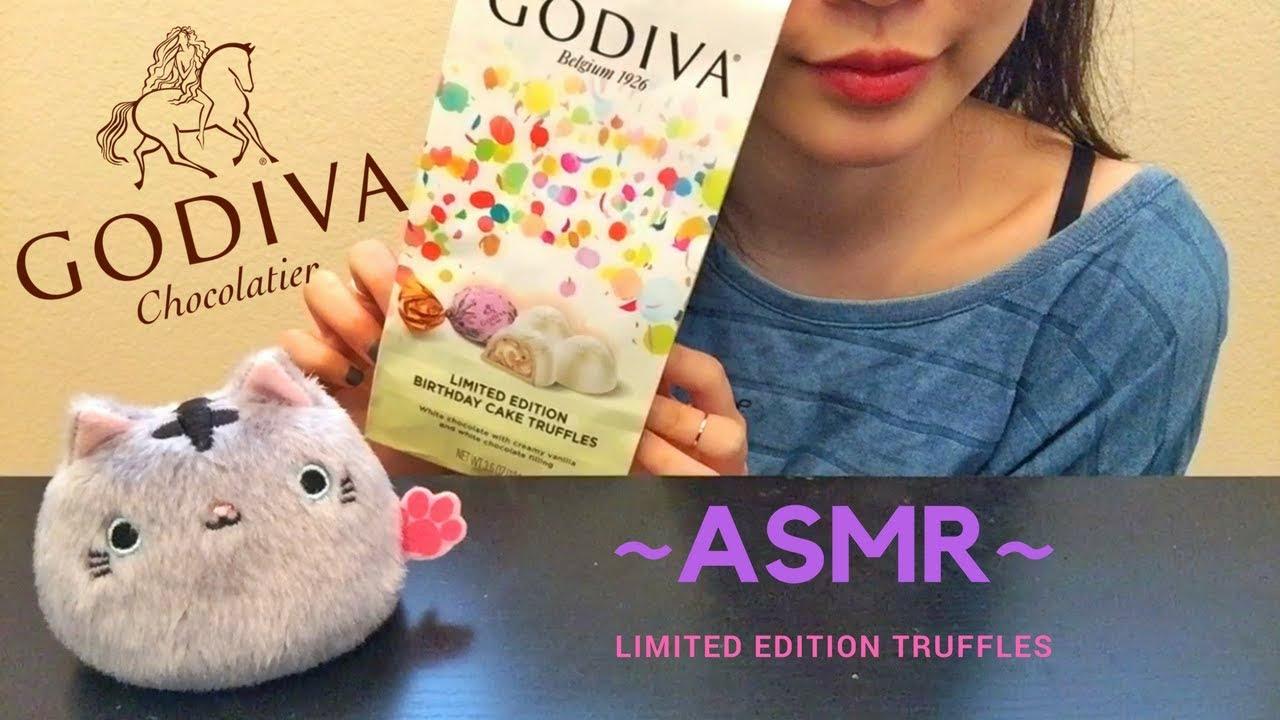 Limited Edition Godiva Birthday Cake Truffles Asmrmukbang Youtube