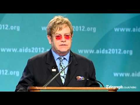 Elton John tells Aids conference 'I should be dead'
